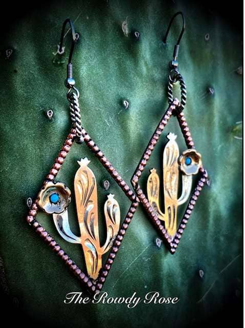 cactus-earrings-turquoise-copper