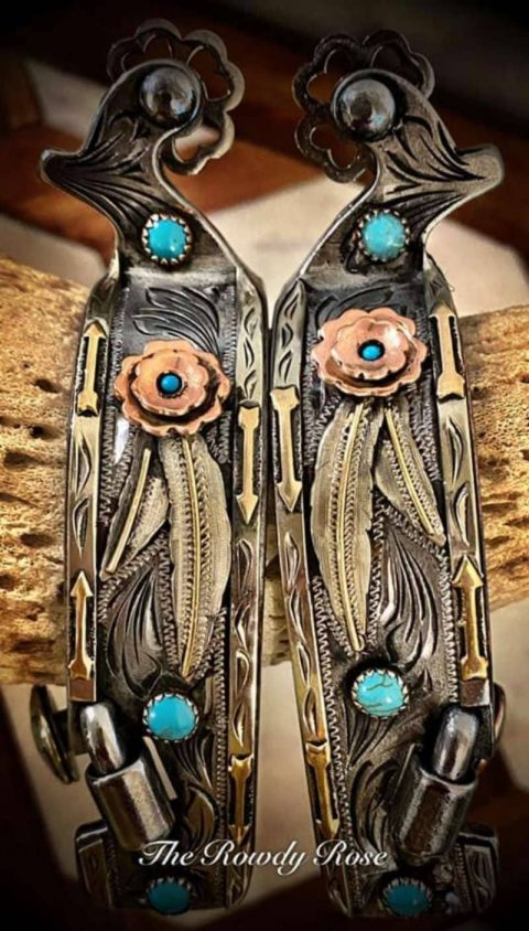 wynona-spurs-turquoise-feathers