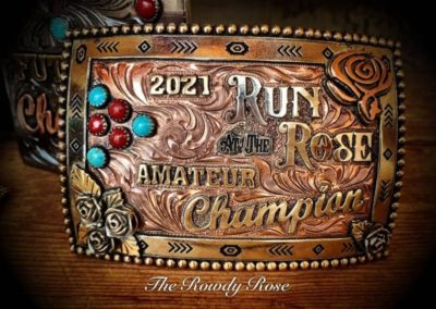 run for roses buckle