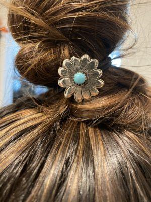 daisy-silver-turqouise-hair-tie
