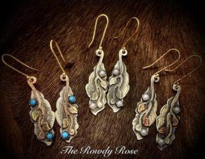 ivy earrings leaf shape