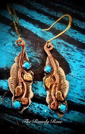 turquoise ivy earrings