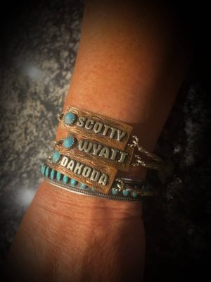 Your Text Here Concho Bracelet
