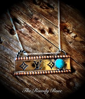 LV Bar Necklace