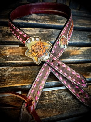 pink rose headstall
